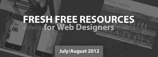 Free Resources for Web Designers (July/August 2012)