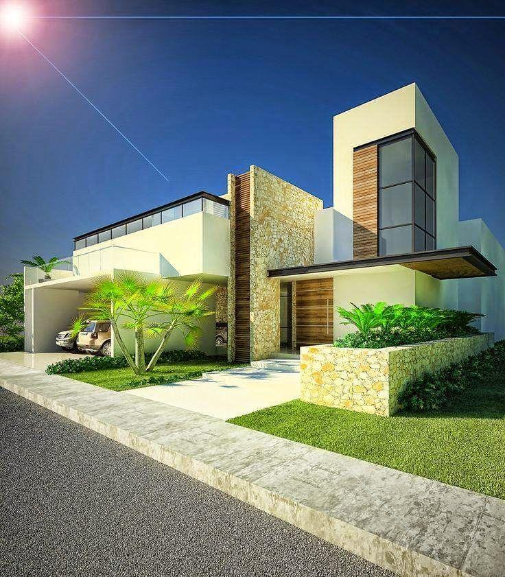 35 casas con garaje adelante ingreso casas modernas for Casa moderna under 35