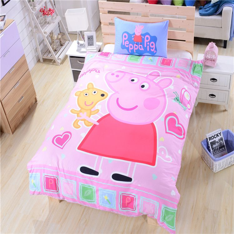Pink Peppa Pig Bedding for Girls Duvet Cover Single Double Queen ... : peppa pig quilt cover set - Adamdwight.com