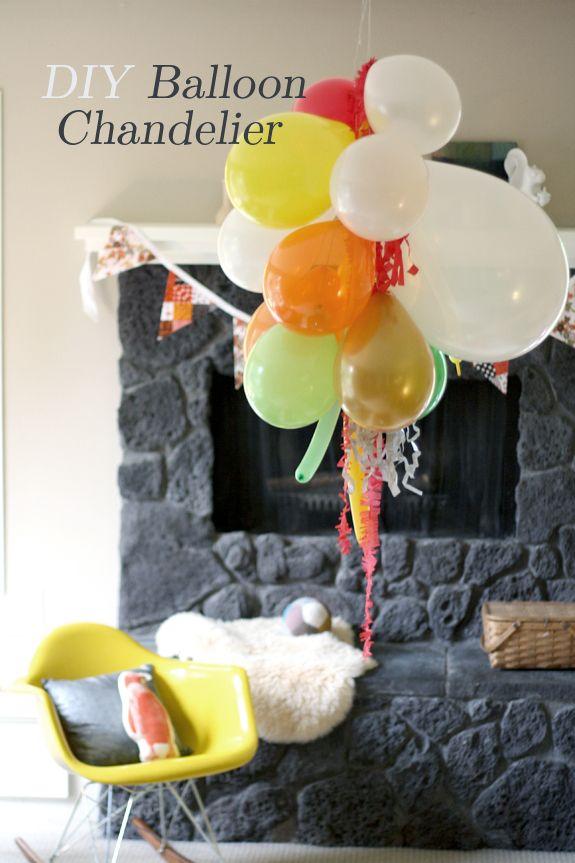 DIY balloon chandelier  The Art of Simple