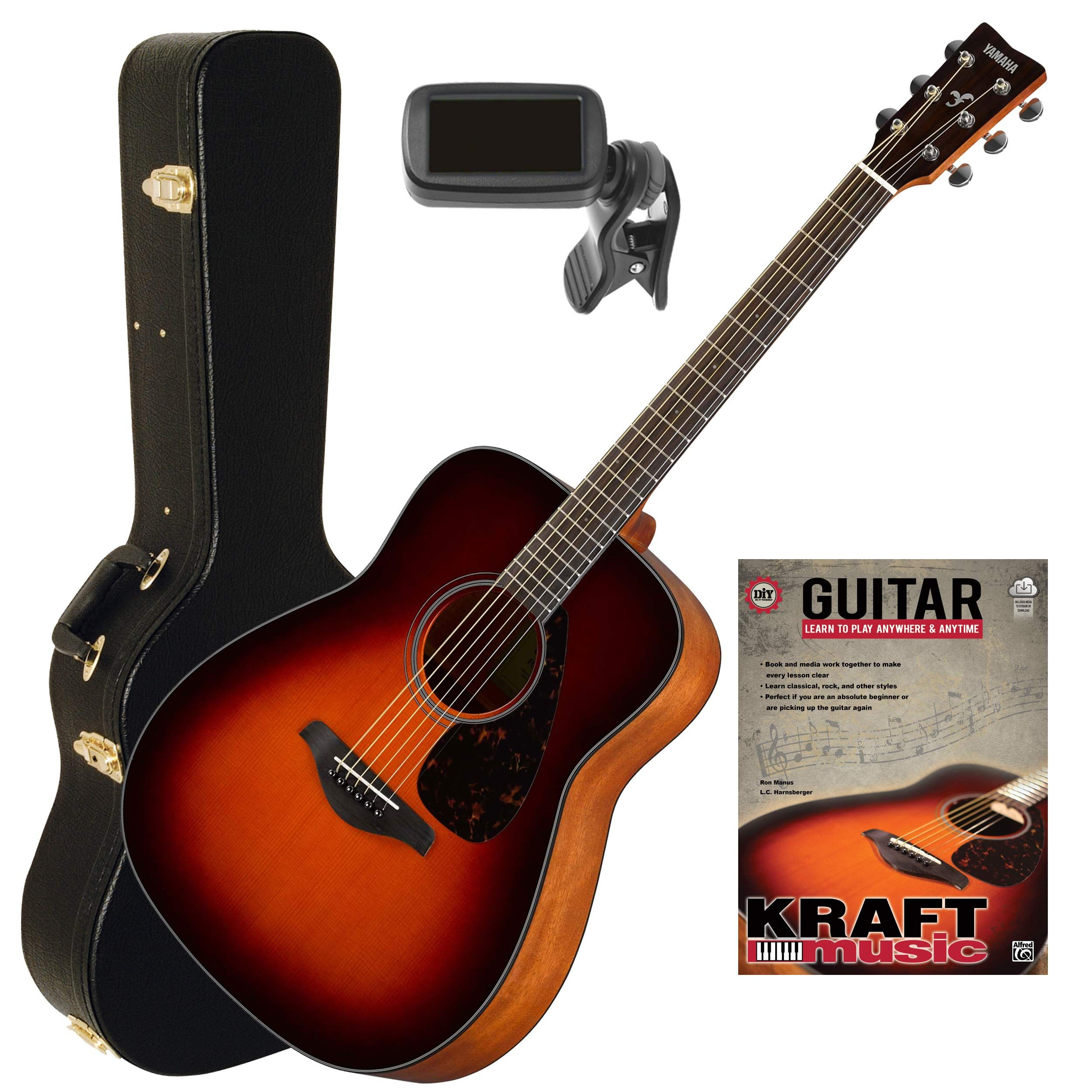 Yamaha Fg800 Brown Sunburst Acoustic Guitar With Hardshell Case Tuner And Lesson Book Guitar Yamaha Fg800 Acoustic Guitar