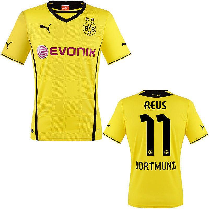 newest 9a520 7d669 Reus Jersey Dortmund Home 2013 2014 | Soccer | Dortmund ...