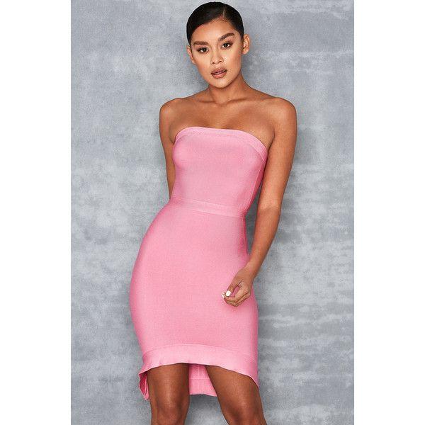 06cc35354620 'Elfin' Pink Strapless Fluted Hem Bandage Dress - Mistress Rocks ($96) ❤