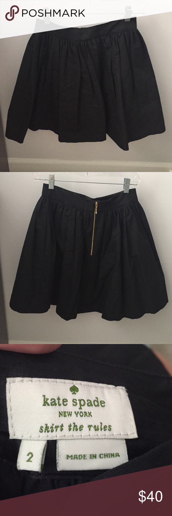 Black Kate spade skirt Super cute Kate spade skater skirt!! *it runs small* kate spade Skirts Circle & Skater