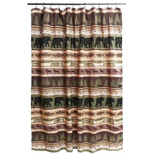 Bear Crossing Shower Curtain Rustic Shower Curtains Shower