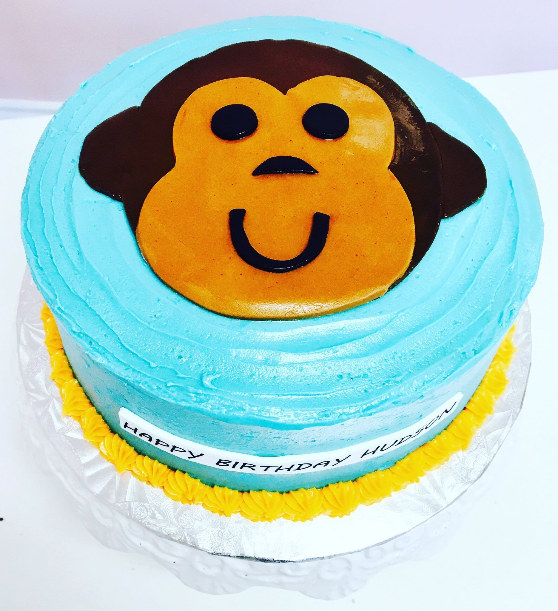 Monkey Birthday Cake #DvasCakes #Cambridge | Custom Cakes ...