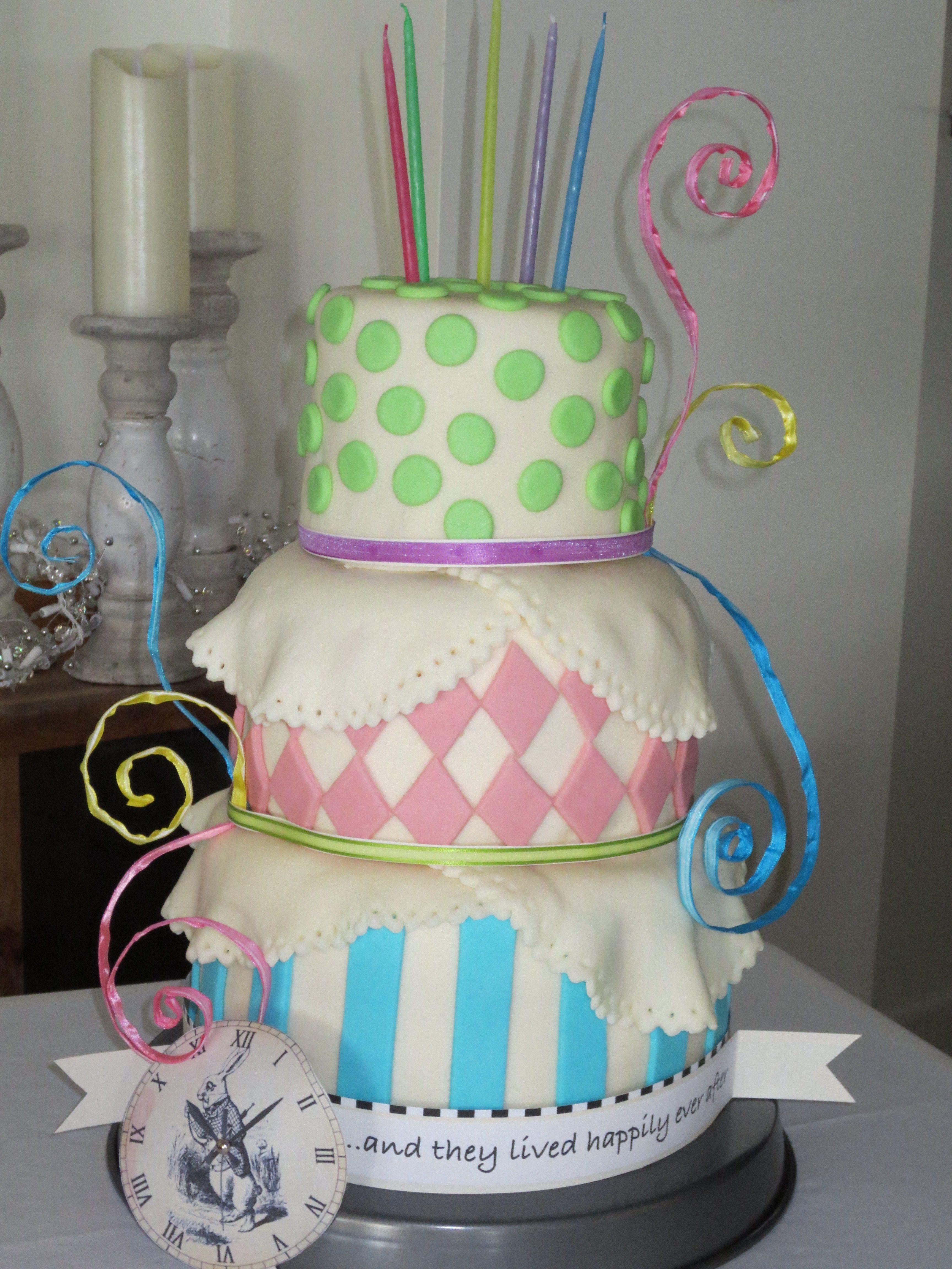 Wes and Vicki's Wedding Cake  Alice in Wonderland theme