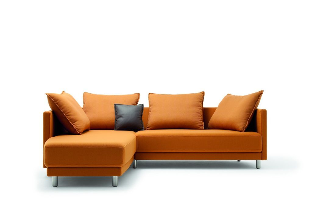 rolf benz modern furniture. Stunning Modern Style Rolf Benz Sofa Orange Color Design Ideas Combined With Black Cushion Made From Letaher Material Furniture