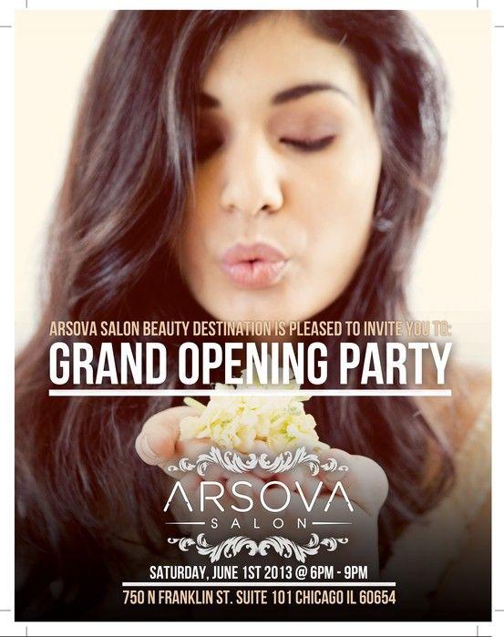 Arsova Salon Grand Opening Flyer Designed By Cardinalx
