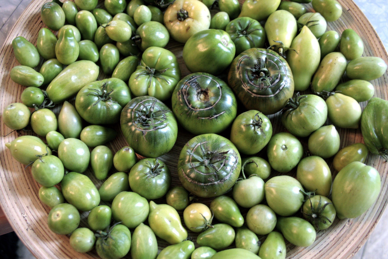 Green tomato ketchup with turmeric