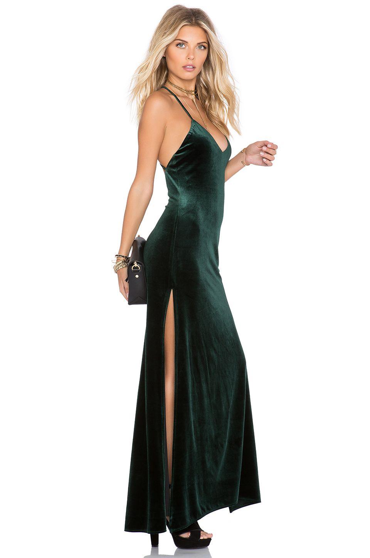 8b3e8fbbd70 NBD SU2C x REVOLVE In The Deep Maxi Dress in Hunter Green