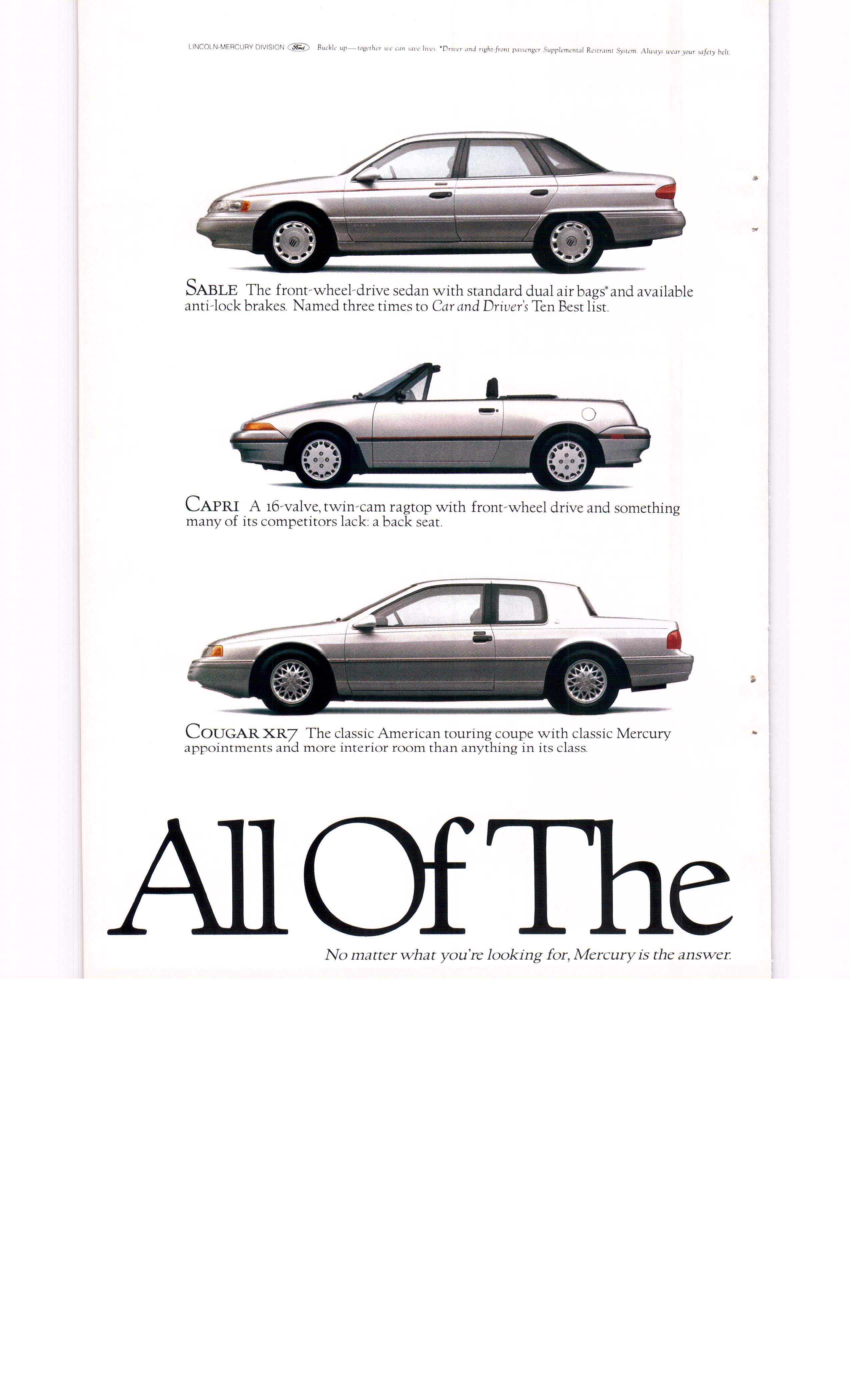 1993 Mercury Villager Tracer Grand Marquis ad 1 - National ...