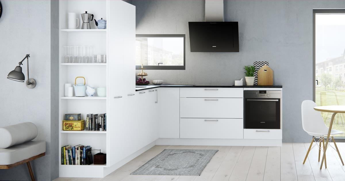 La cuisine Milk de Kvik est une cuisine claire et fonctionnelle au