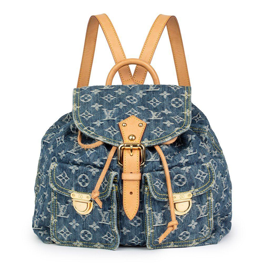 b40b187edf44 Louis Vuitton Blue Monogram Denim Backpack PM