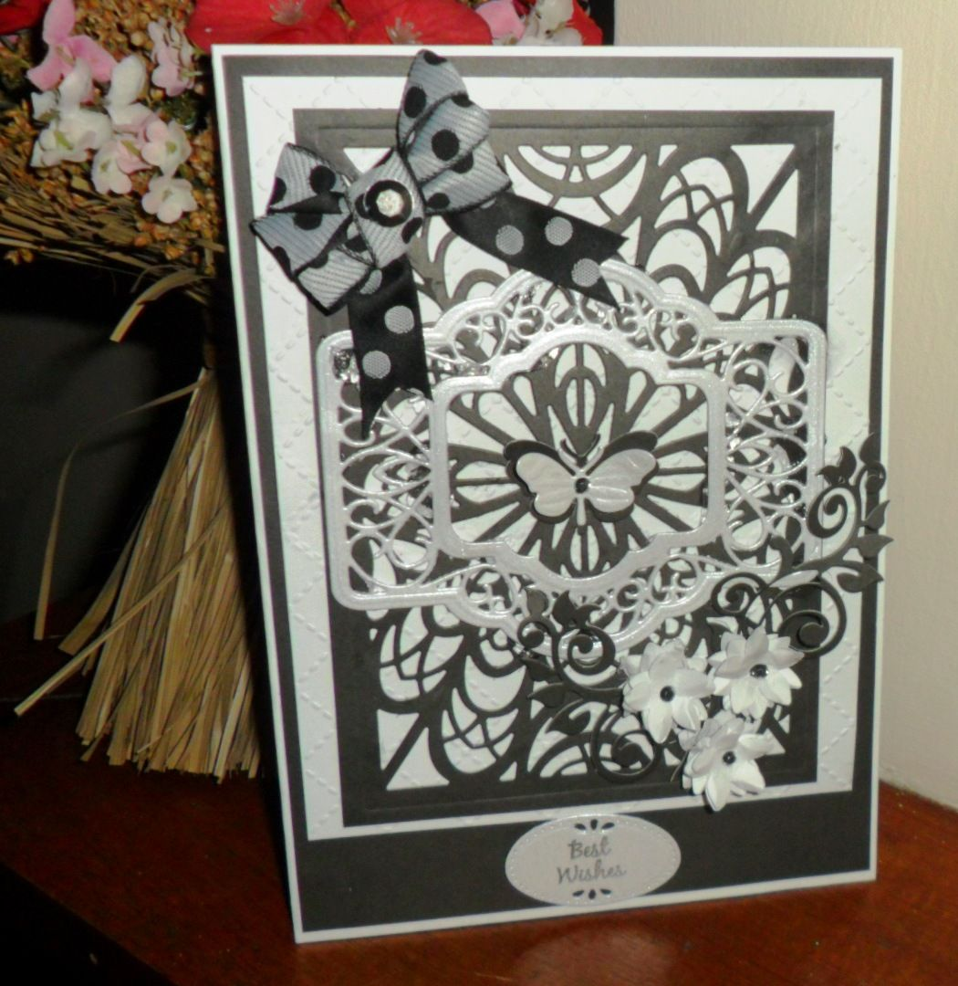 Black and white any occasion card - my first back in the UK