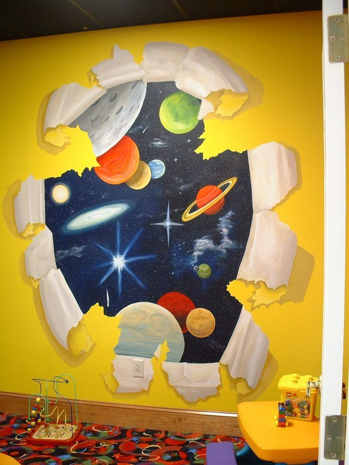Broken Space Wall mural idea as seen on www.findamuralist.com ...