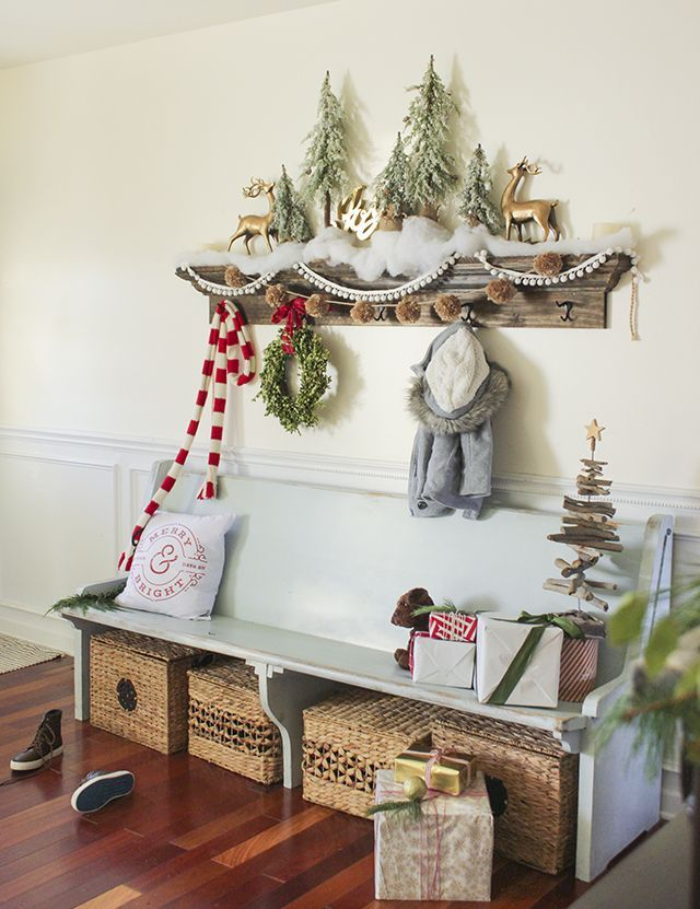 A tour of my home decorated for Christmas including entry, kitchen
