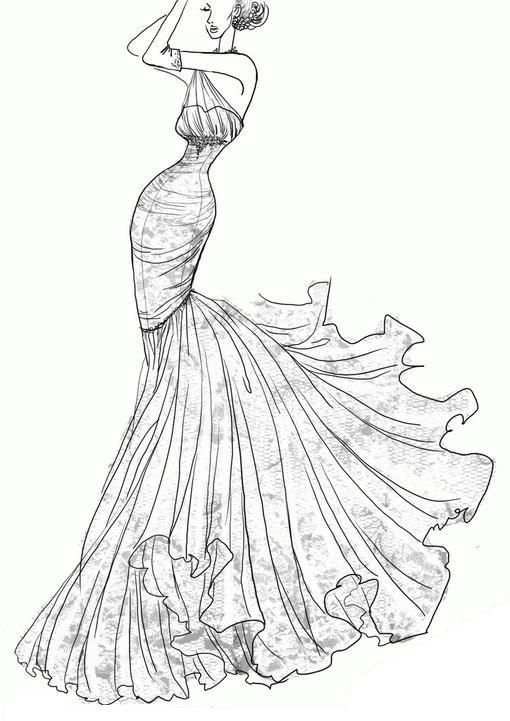 Love This Wedding Dress Sketch With Images Wedding Dress