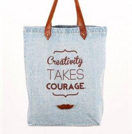 Denim light blue - Creativity takes courage
