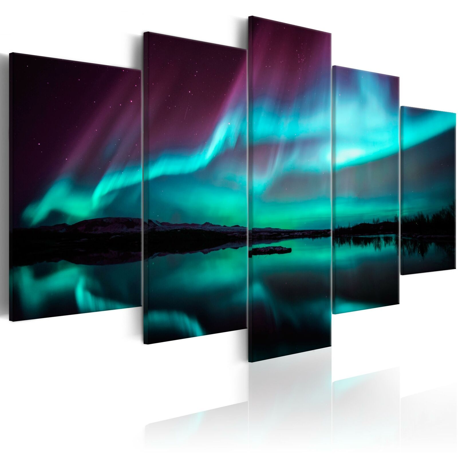 Polarlicht Nordlicht Wandbilder Xxl Bilder Vlies Leinwand C B 0290 B N In 2021 Living Room Canvas Pictures Night Light Poster Prints