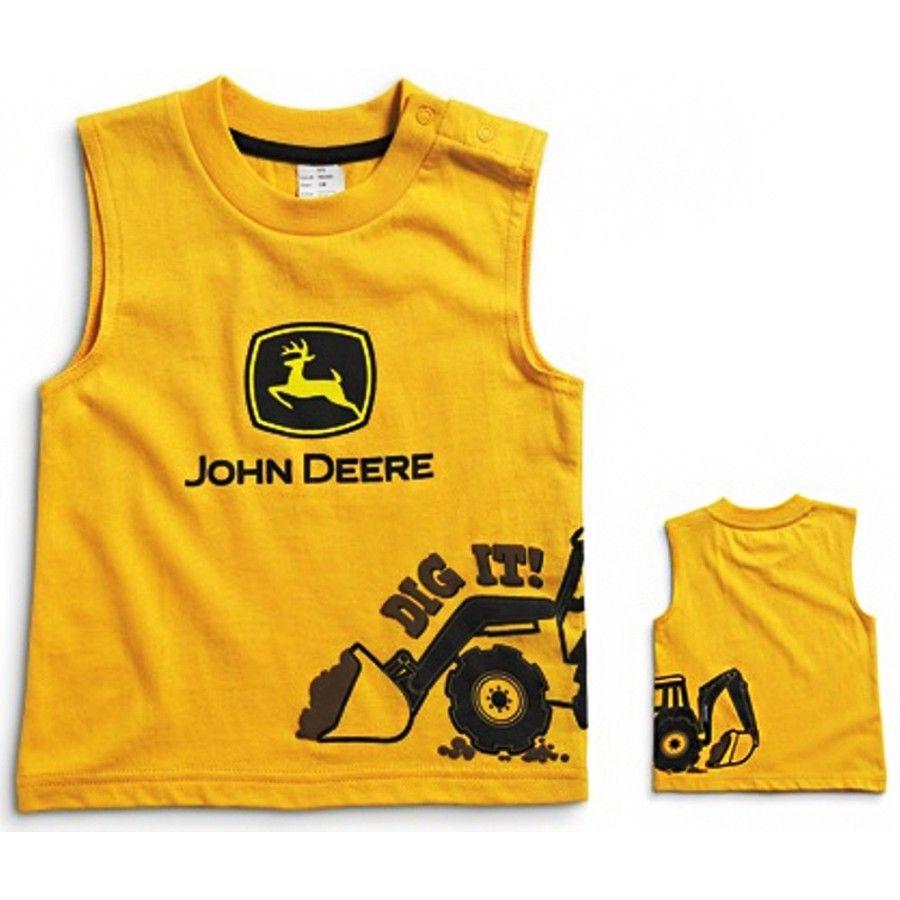 4485c198 John Deere Infant Boys Construction Yellow Muscle Shirt JSBT009Y2F1 ...
