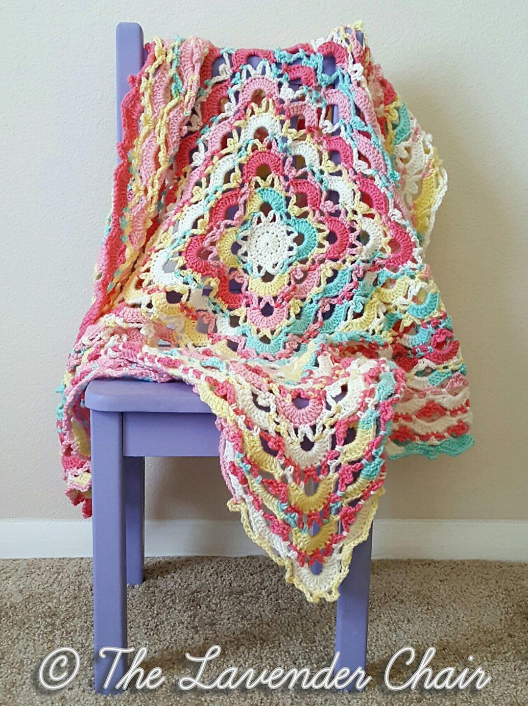 Gemstone Lace Blanket Pattern By Dorianna Rivelli