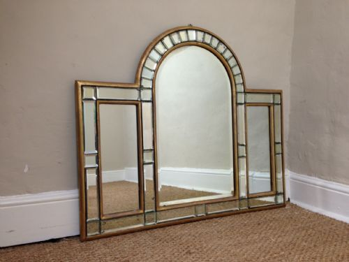 Art Deco Spiegel : An art deco arched overmantle mirror c 1920 home decor art deco