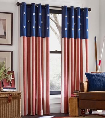Kensington Home Americana Grommet Window Curtain Patriotic Bedroom Americana Bedroom Americana Decor