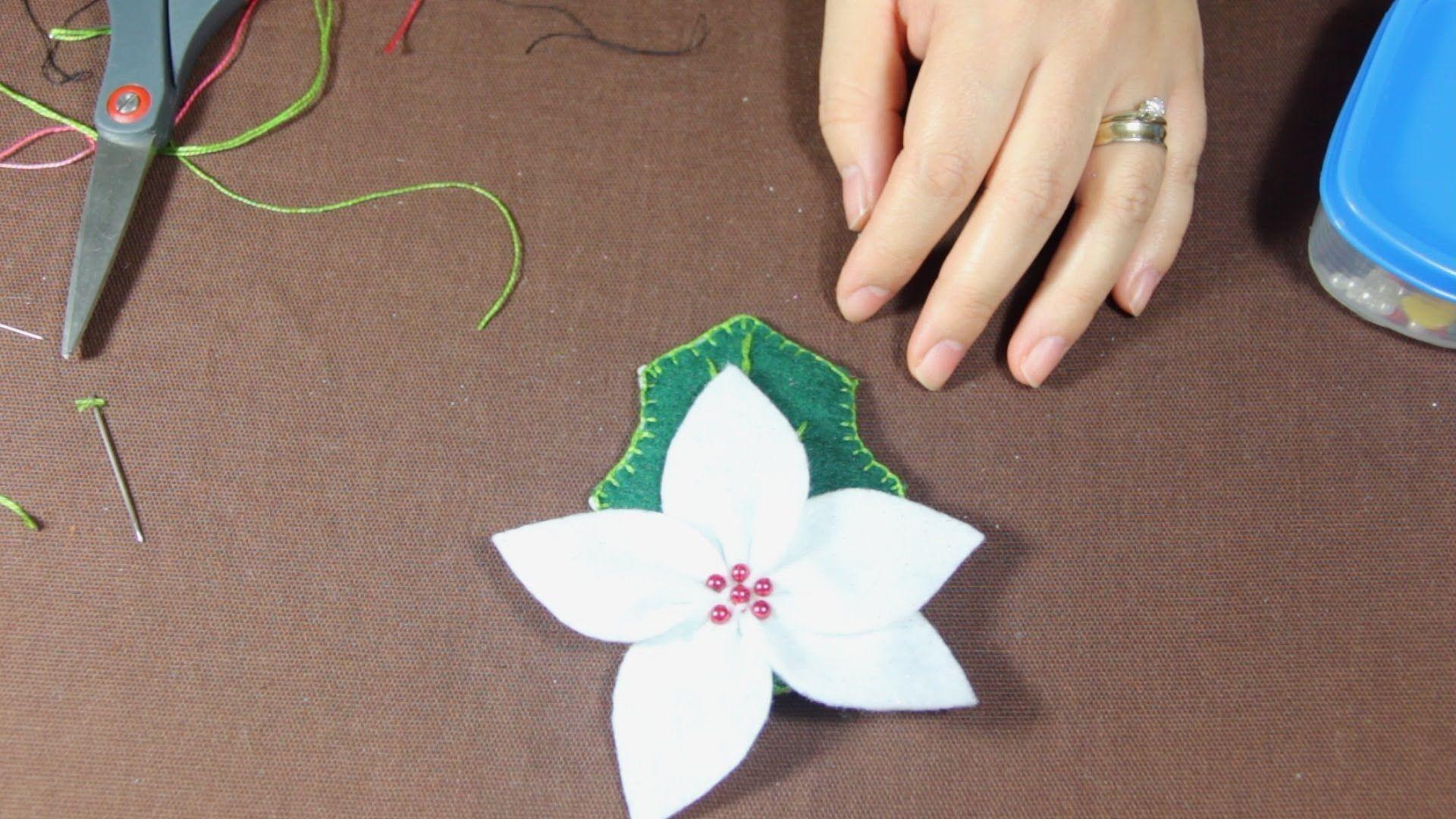 Como Hacer una Flor de Nochebuena Tutorial (1/3)