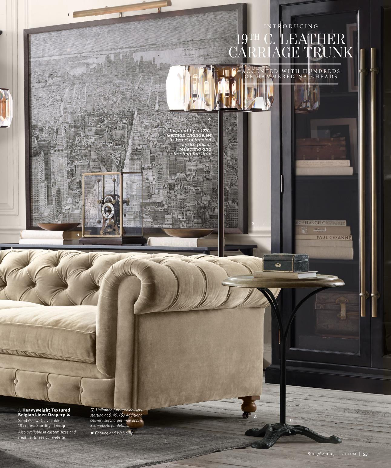 Rh source books living room decor in 2019 home decor - Restoration hardware living room ideas ...