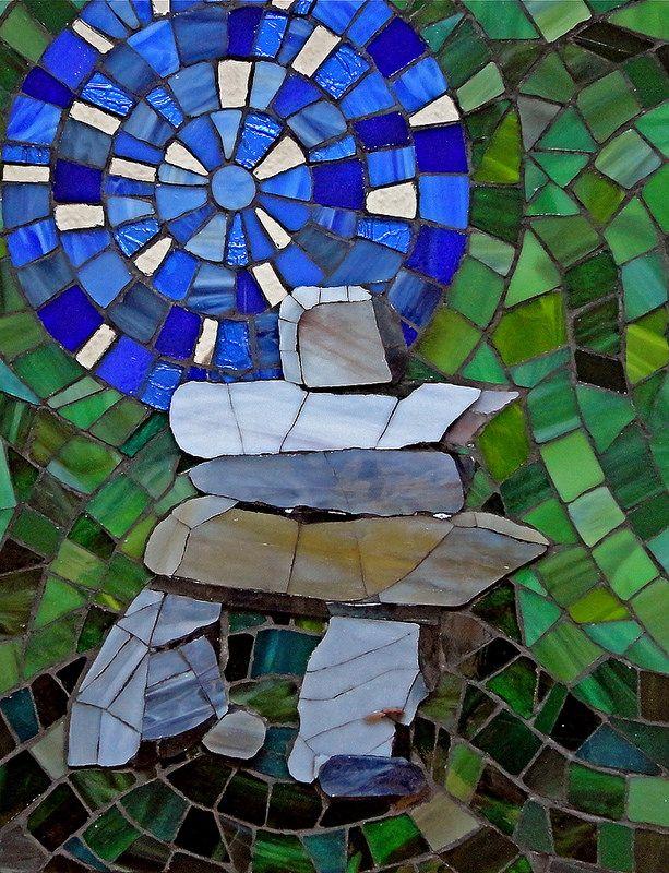 InukshukTribute to Kenojuak Ashevak Mosaic, Art, North