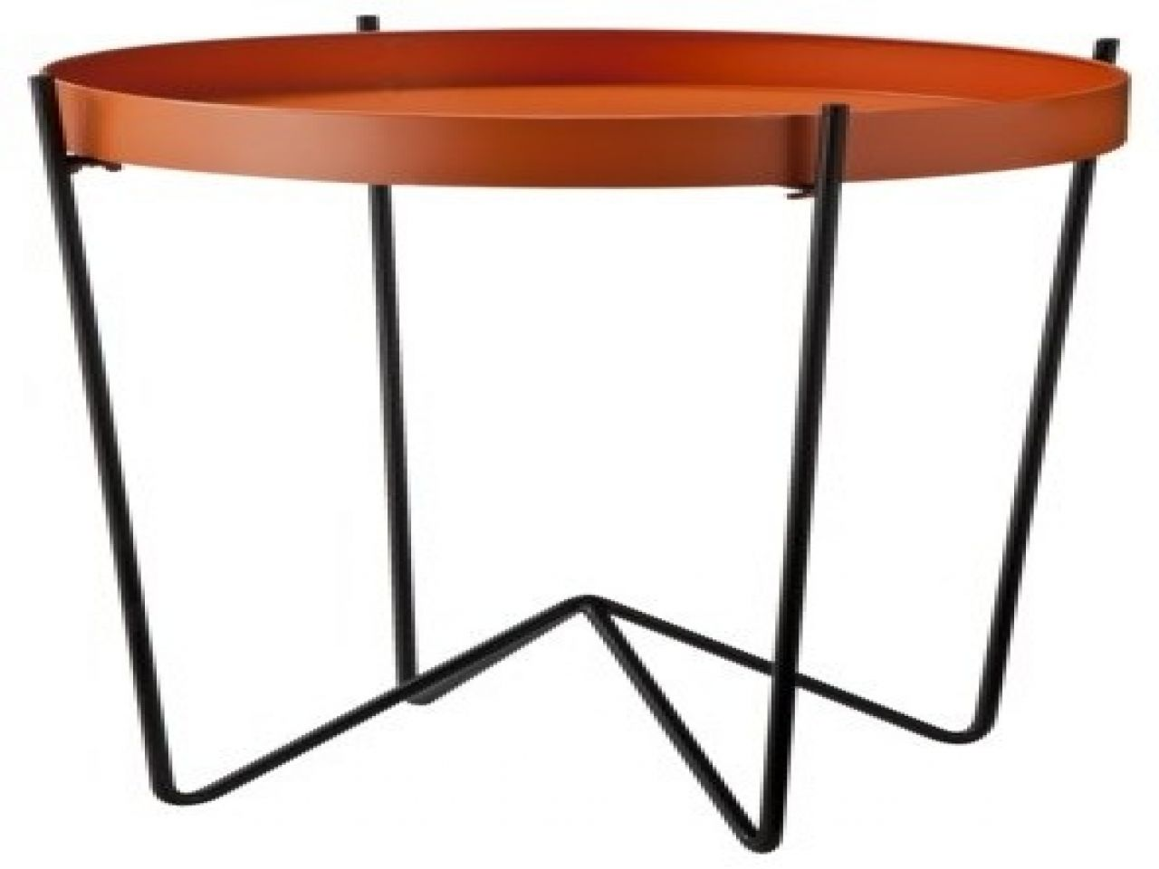 Superbe Mod Round Metal Tray Table