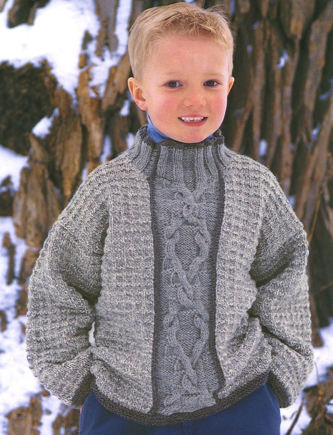 Yarnspirations patons faded cable panel for boy patterns knitting patterns galore faded cable panel for boy bankloansurffo Image collections