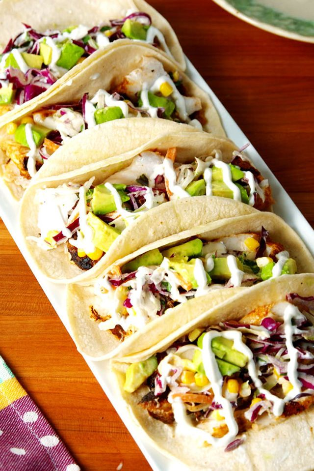 Fish Tacos Recipes Fish Dinner Seafood Recipes