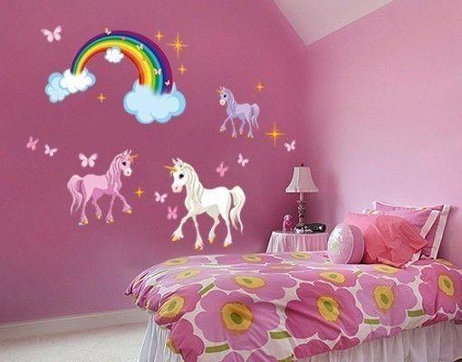 Wandsticker Einhorn Set In 2019 Kinder Zimmer Unicorn