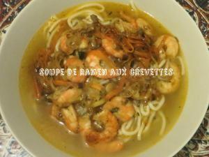 Recette du Japon : Soupe de ramen aux crevettes
