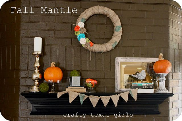 Lots of good ideas for Autumn mantles