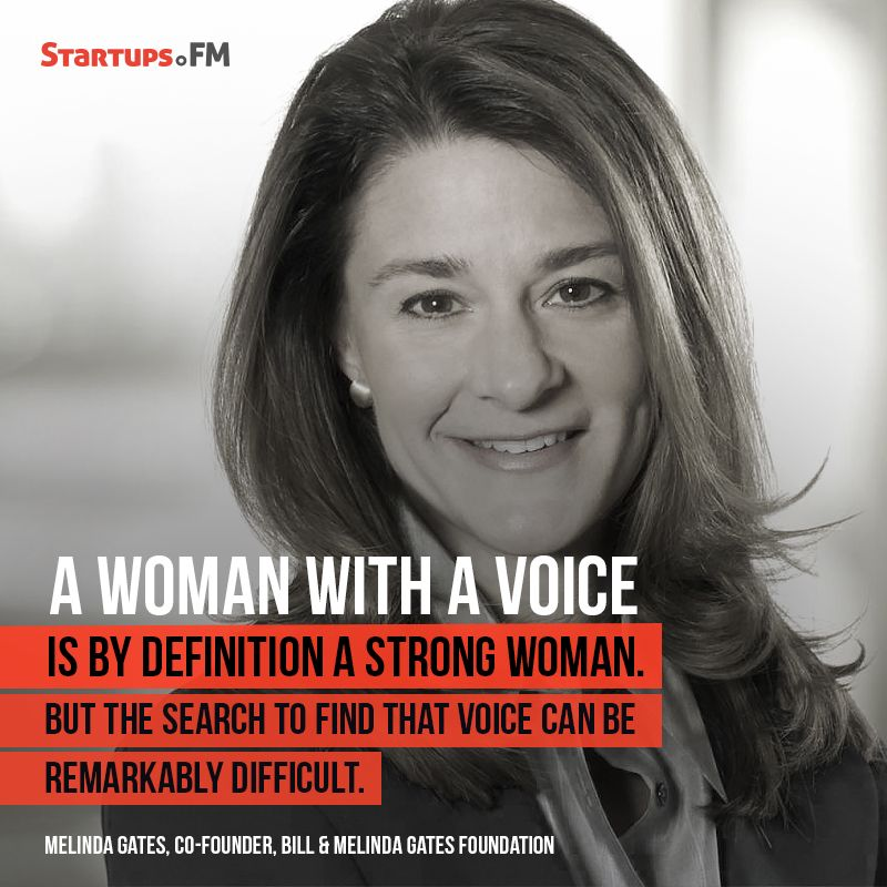 Melinda Gates- Truly the woman with a voice! #womenintech - copy the blueprint book max levchin