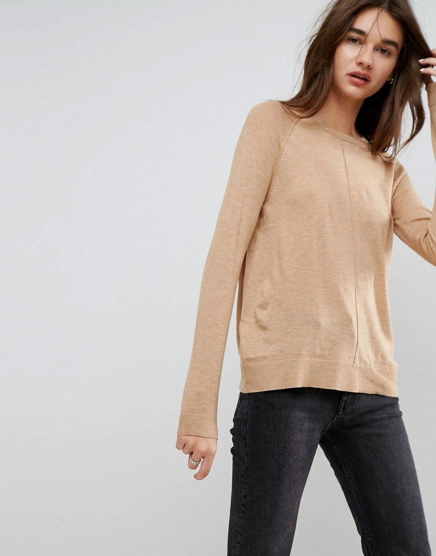 ASOS Boyfriend Sweater With Crew Neck - Beige | Products ...