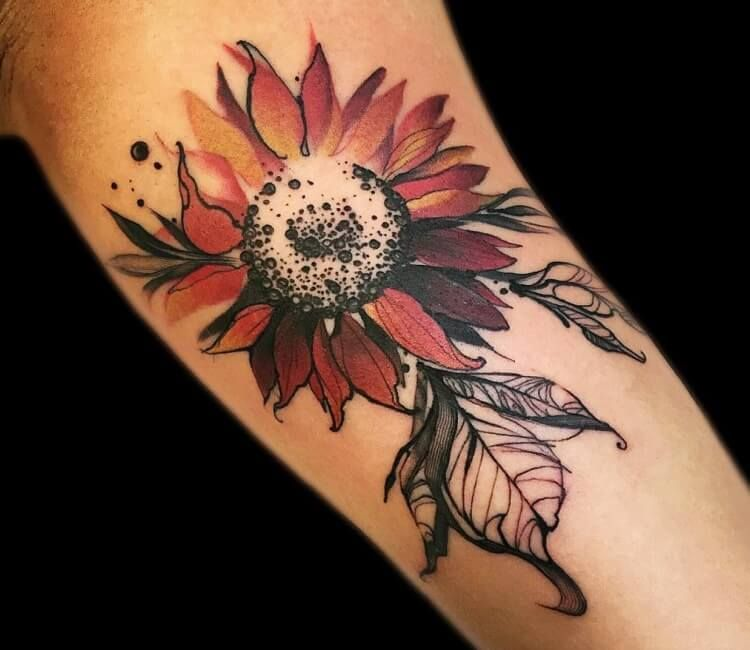 Photo of Sunflower tattoo by Phellipe Rodrigues | Post 27279 –  Tattoo photo – Sunflowe…