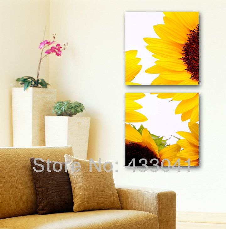 Hand Painted sunflower wall art decor Oil Painting Modern Abstract 2 ...