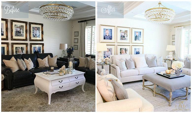 Photo of Transitional Family Room Reveal – Randi Garrett Design
