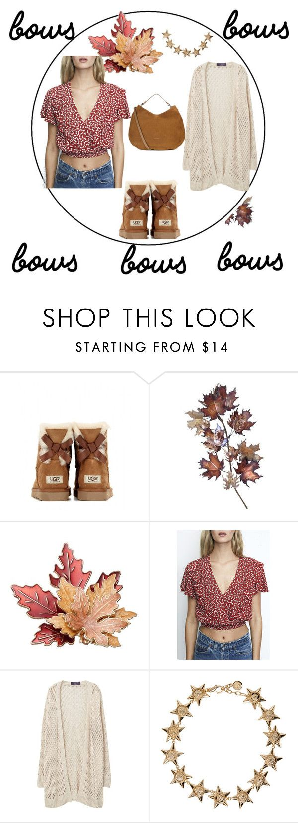 """palabra"" by floo-carriillo ❤ liked on Polyvore featuring UGG Australia, C. Jeré, Violeta by Mango, Versace and Coccinelle"