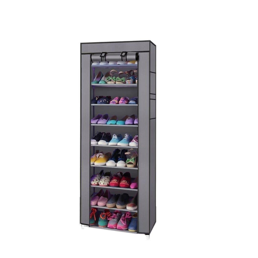 layer shoe rack shelf storage closet organizer cabinet portable