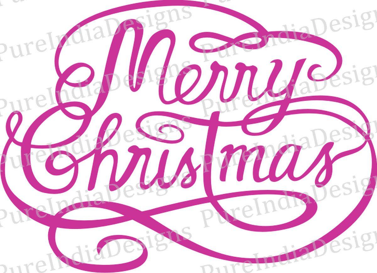 MERRY CHRISTMAS Svg Christmas Logo Typography Calligraphy