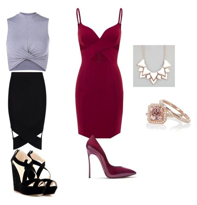 """""""Untitled #1"""" by yadelteshager on Polyvore featuring Boohoo, Casadei and Full Tilt"""