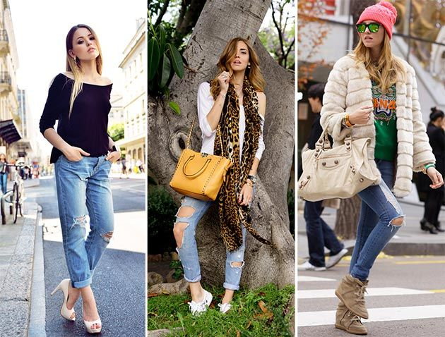 Ripped Jeans Trend: How to Wear Ripped Jeans | Ripped jeans, Style ...