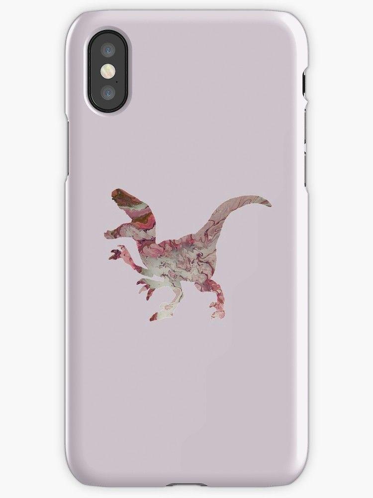 Pink rose raptor dinosaur image iphone 12 soft by