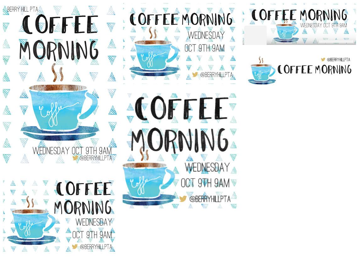 Our New Coffee Morning Cup Template Is Great For Advertising
