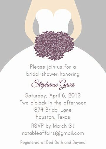 printable gray silver and eggplant purple plum bridal wedding shower invitation colors can be changed 1200 via etsy